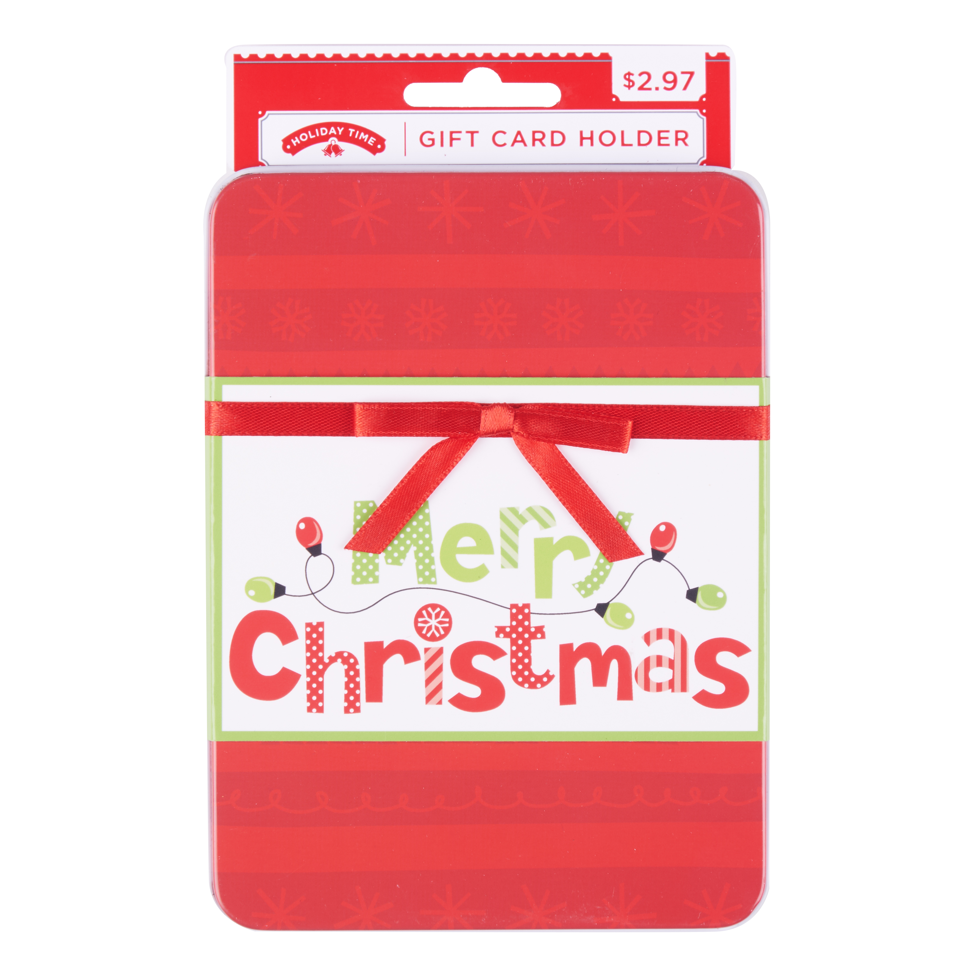 Holiday Time Merry Christmas Gift Card Holder