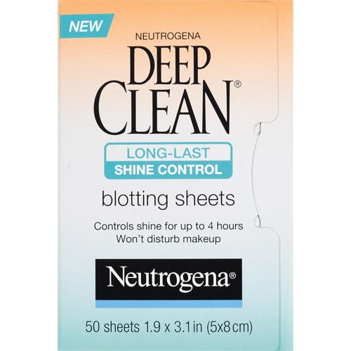 Neutrogena Deep Clean Shine Control Blotting Sheets, 50ct