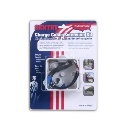 USAutomatic 0630050 Charge Cable Extension Kit for Sentry Gate Openers