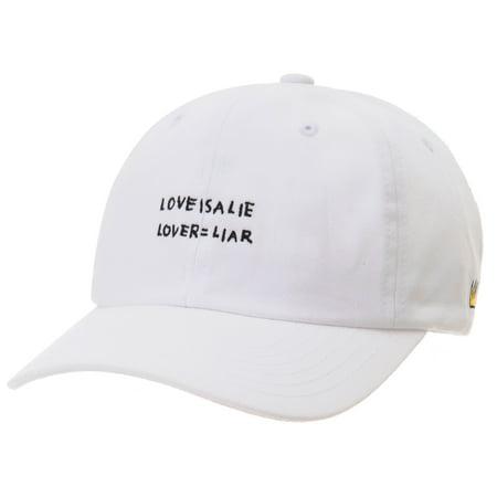 WITHMOONS Baseball Cap Jean-Michel Basquiat LOVE IS A LIE Hat CR1769 (Black) 848f131f1a0