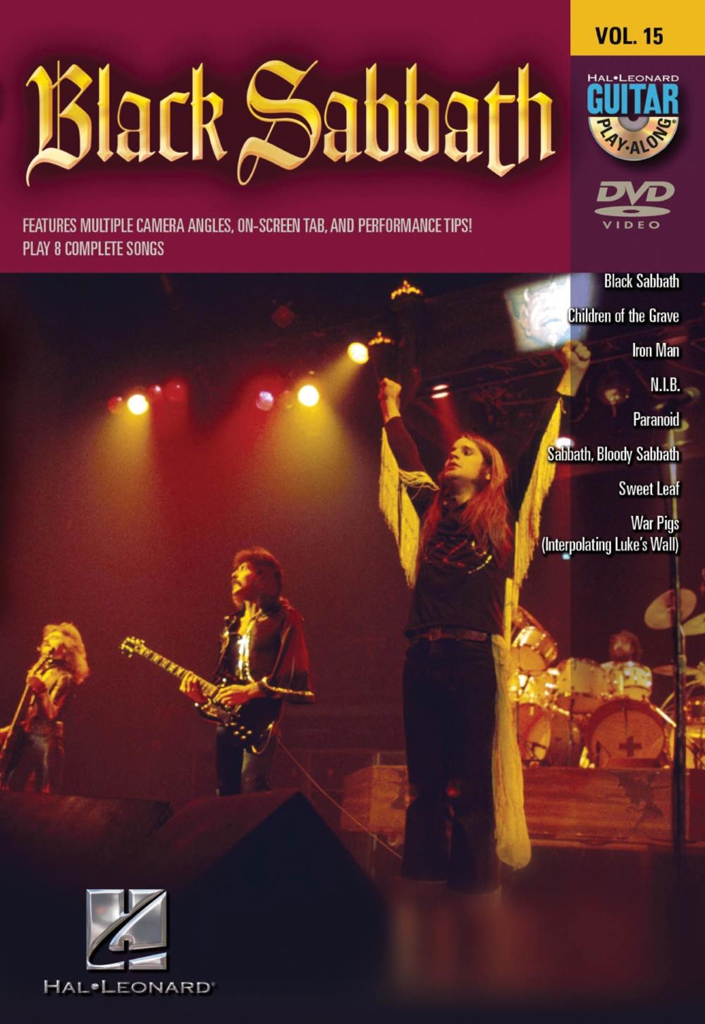 Hal Leonard Black Sabbath Guitar Play-Along Series Volume 15 DVD by