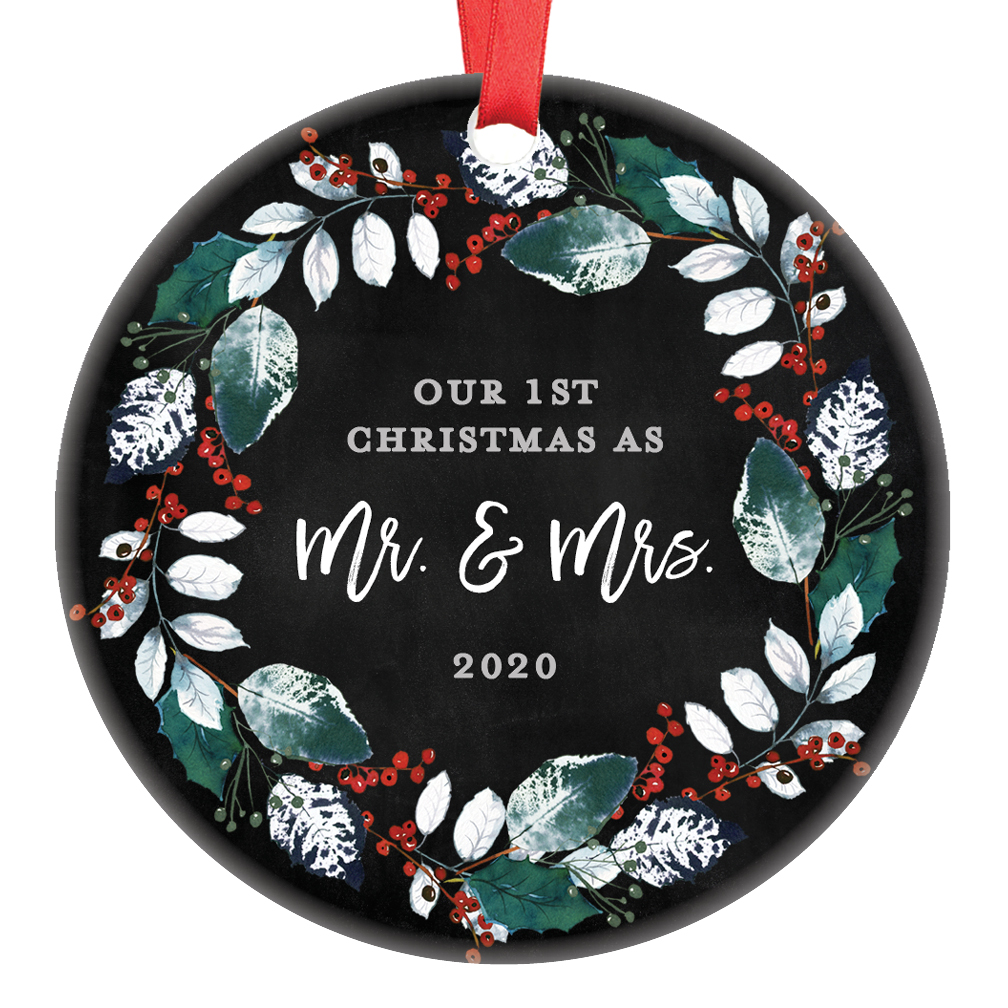 First Christmas Wedding Ornament 2020 First Christmas Wedding Ornament 2020, Mr and Mrs 1st Married