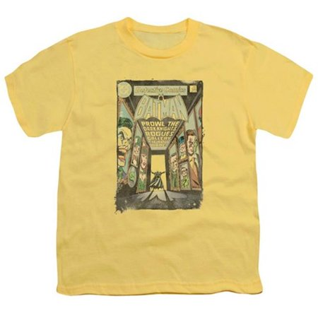 Batman-Rogues Gallery Cover - Short Sleeve Youth 18-1 Tee - Banana, Extra Large