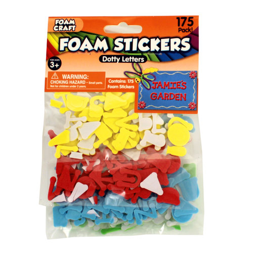 Dotty Uppercase ABC Foam Stickers, 175-Count