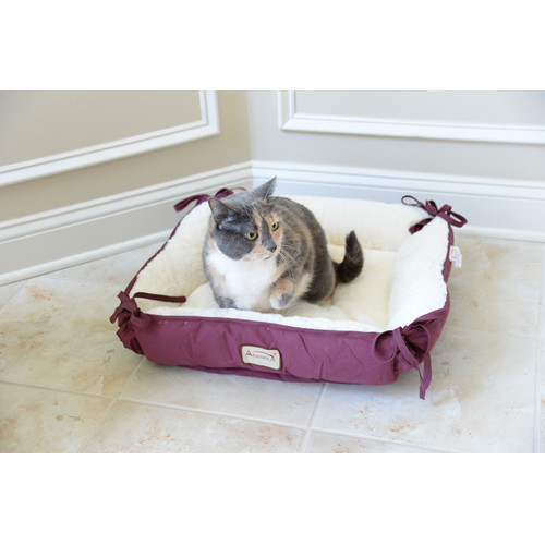 Armarkat Pet Bed, 16-Inch Square, Burgundy, C06HJH/MB