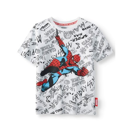 "Spiderman ""City Spidey"" Short Sleeve Licensed Tee (Little Boys, Big Boys, & Husky)"