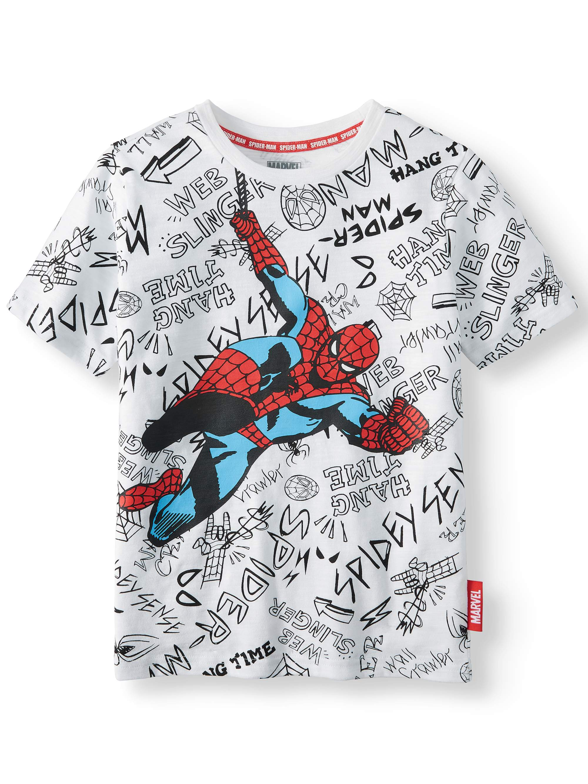"Spiderman ""City Spidey"" Short Sleeve Licensed Tee (Little Boys, Big Boys, & Husky)"
