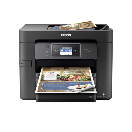 Epson WorkForce Pro WF-3733 All-in-One Wireless Color Printer with Copier, Scanner, Fax and Wi-Fi Direct 4000 Page Black Copier