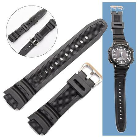 Original Black 18mm Watch Strap Band for SGW-300H SGW-400H SGW-300 SGW-400 (18mm Mesh Watch Band)