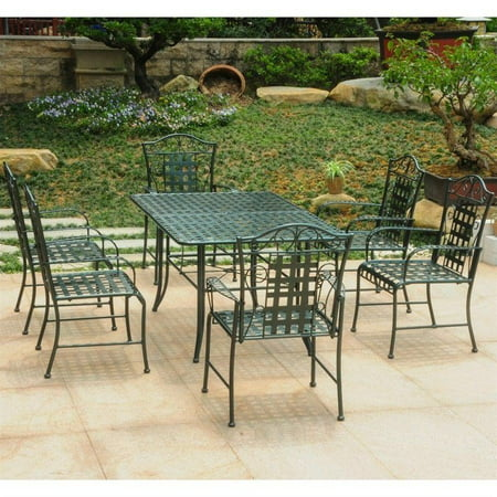 International Caravan Mandalay 7 Piece Patio Dining Set in Verdi Gris ()