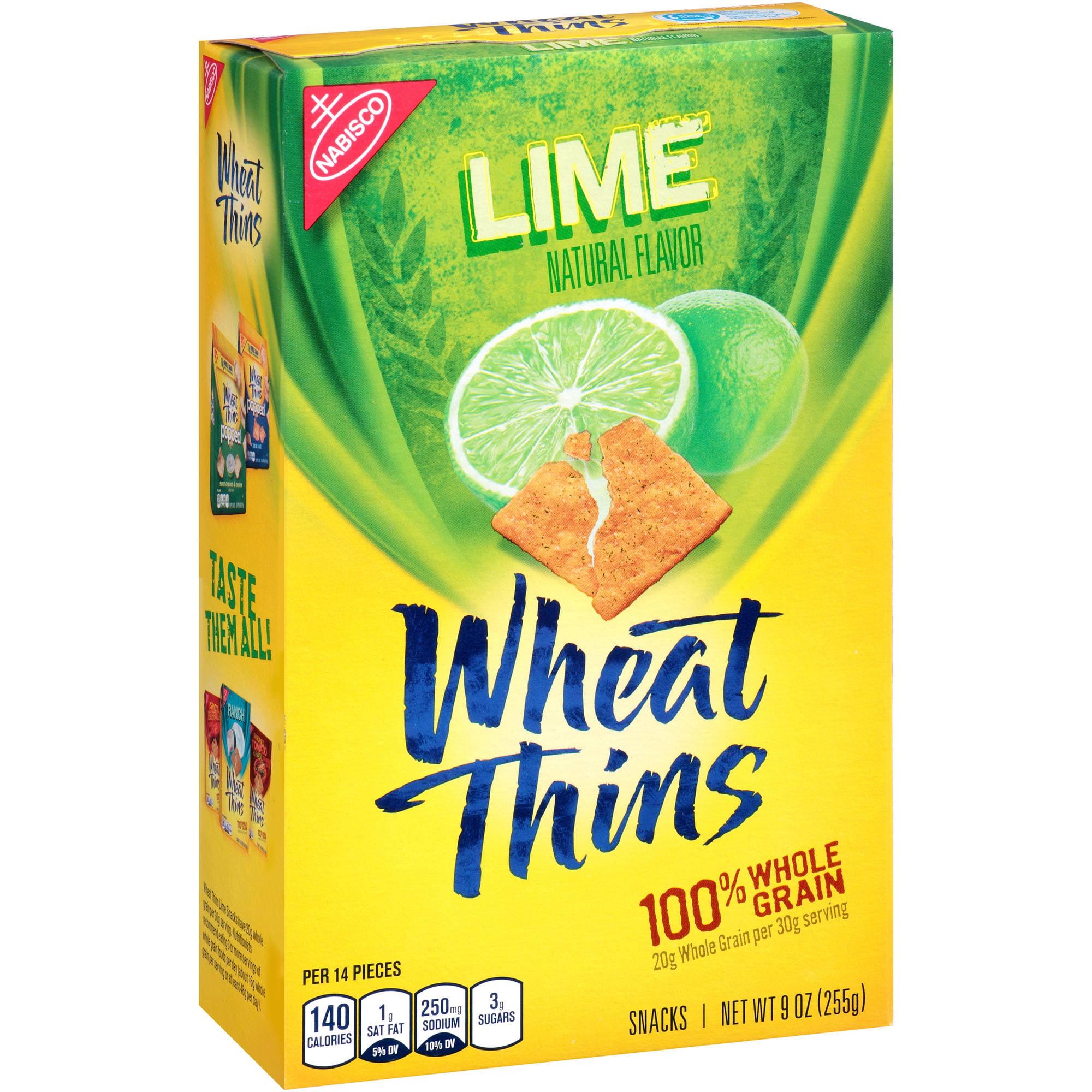 Nabisco Wheat Thins Lime Flavor, 9.0 OZ - Walmart.com | 450 x 450 jpeg 42kB