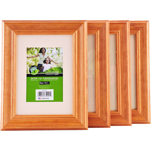 """5""""x7"""" Natural Wood Frame Matted To 3.5""""x"""