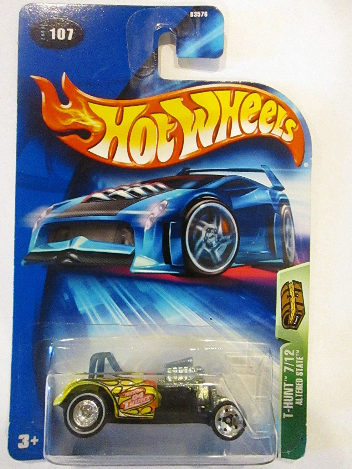 Hot Wheels 2004 Treasure Hunt 1:64 Scale Yellow Altered State 7 12 Die Cast Car #107 By... by