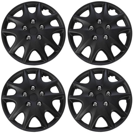 OxGord 15 Inch Hubcaps Wheel Covers, Silver for Toyota Corolla (4 Piece)