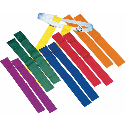 Click here to buy Spectrum Flag Football Sets, Set of 12, Orange by S&S.