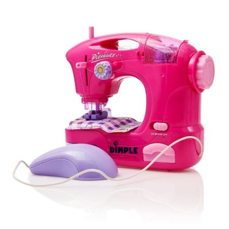 Matashi Children's Sewing Machine Toy with Accessories and Hand Pedal by Dimple