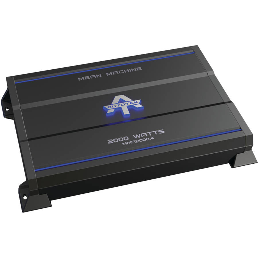 Autotek MMA2000.4 The Mean Machine 4-Channel Class AB Amp, 2,000 Watts