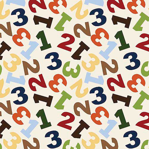 Springs Creative Nursery Jungle 1, 2, 3 Numbers Toss Fabric by the Yard