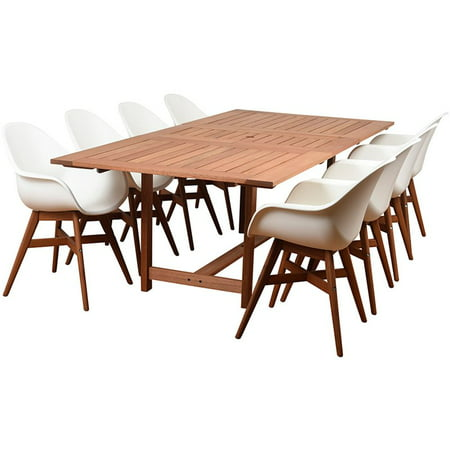 International Home Amazonia Charlotte Deluxe 9 Piece Patio Dining Set ()