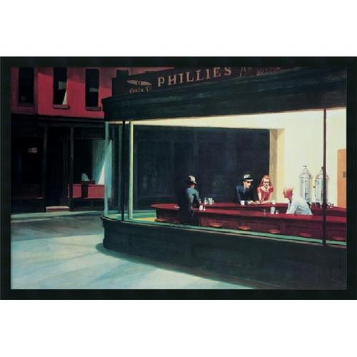 Amanti Art 'Nighthawks' by Edward Hopper Framed Painting Print