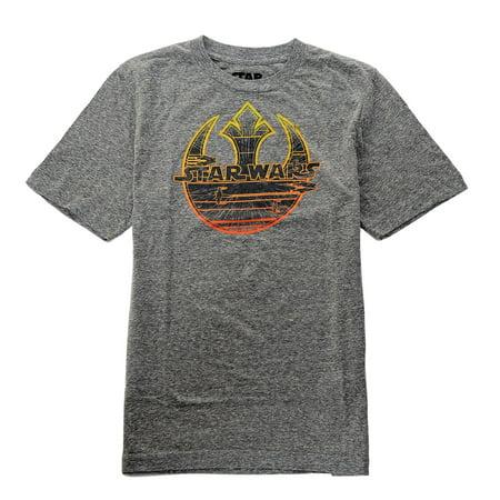 Star Wars Boy's Short Sleeve Tee Grey (Star Wars Uniforms For Sale)