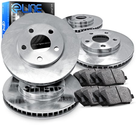 For 2015 Subaru Legacy, Outback Front Rear eLine Plain Brake Rotors+Ceramic Pads