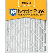 16x24x1 Pleated MERV 10 AC Furnace Air Filters Qty 6