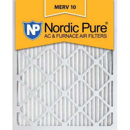 nordic pure 20x25x4 pleated merv 10 ac furnace filters qty 1