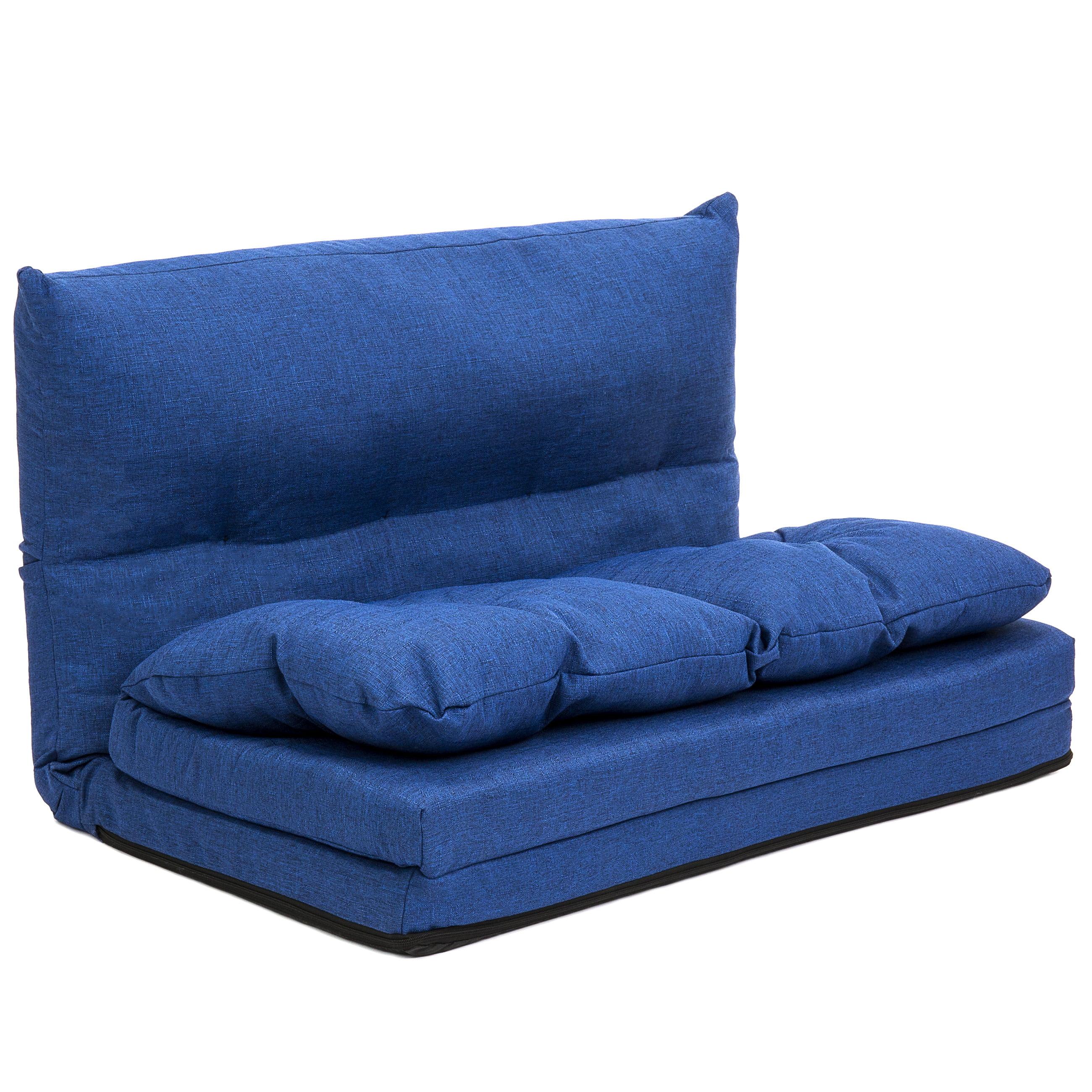 Best Choice Products Linen Folding Futon Chaise Lounge