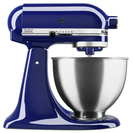 - KitchenAid Deluxe 4.5 Quart Tilt-Head Cobalt Blue Stand Mixer, 1 Each