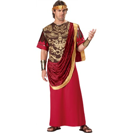 In Character Greek Roman Emperor King Caesar Toga Halloween Costume