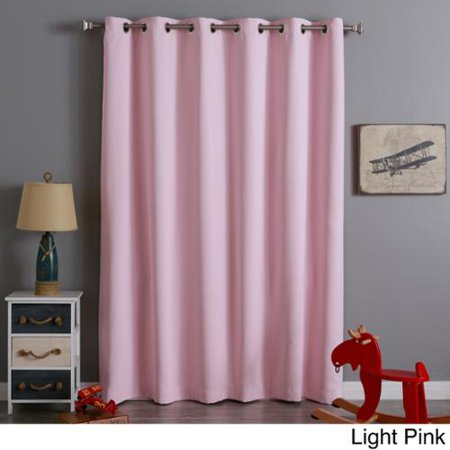 Aurora Home Extra Wide Thermal Insulated 84 Inch Blackout Curtain Panel