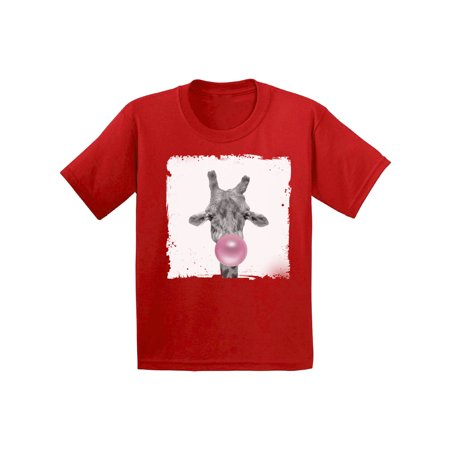 Awkward Styles Childrens Outfit Giraffe Tshirt Giraffe Toddler Shirt Toddler T Shirt Kids Outfit New Animal Collection Funny Giraffe with Gum Giraffe Clothing Giraffe Lovers Funny Gifts for Kids