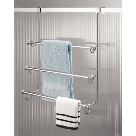 InterDesign York Over the Shower Door Towel Rack for Bathroom  Chrome  Brushed. InterDesign York Over the Shower Door Towel Rack for Bathroom