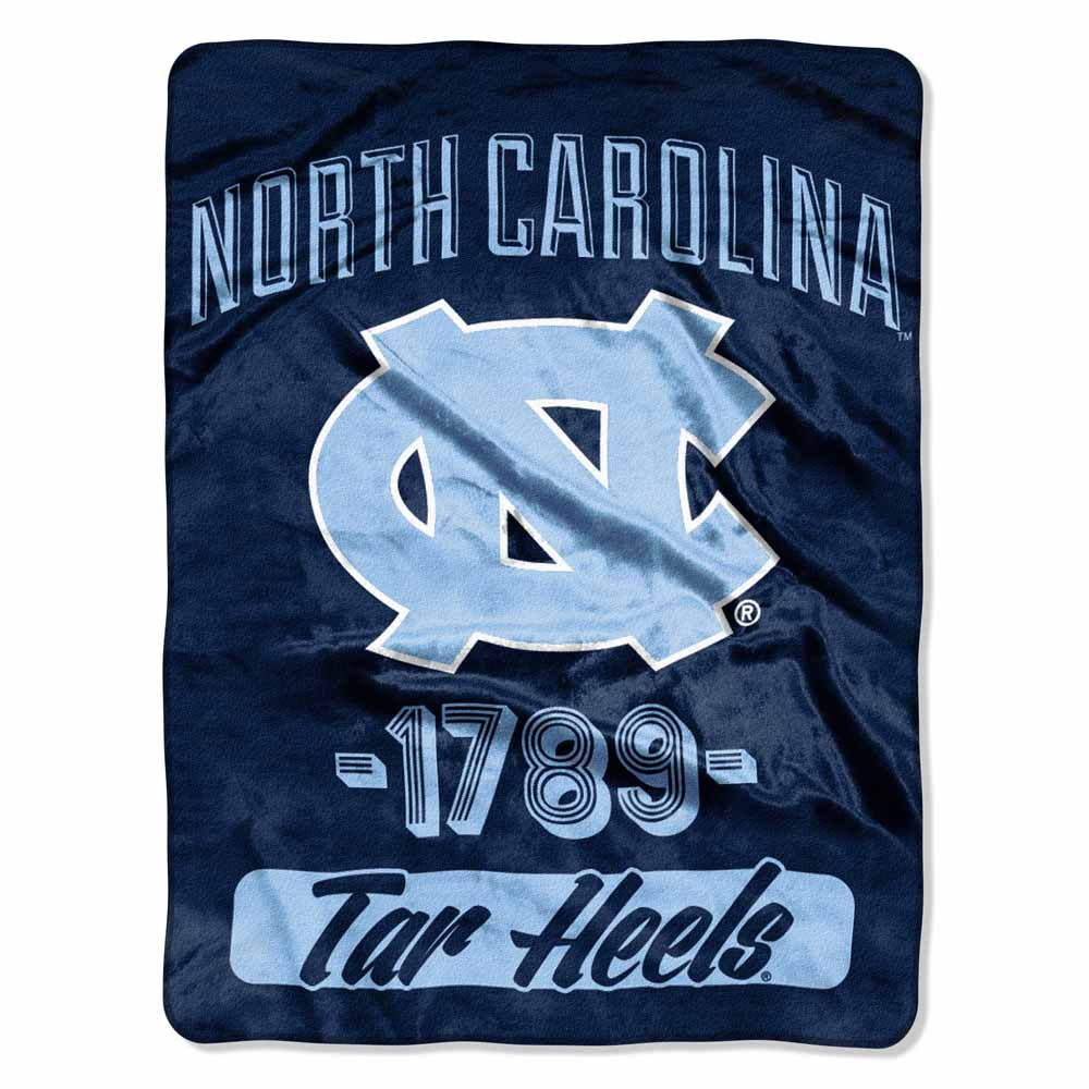"NCAA North Carolina Tar Heels ""Varsity"" 46"" x 60"" Micro Raschel Throw"