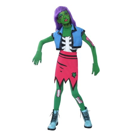 Pop Art Couple Costume (Girls Pop Art Zombie Costume)