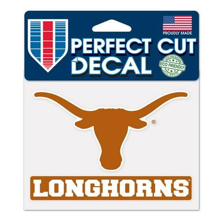 Texas Longhorns Official NCAA 4 inch x 5 inch  Die Cut Car Decal by WinCraft