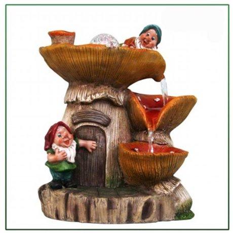 SINTECHNO Two Cute Gnomes Water Fountain