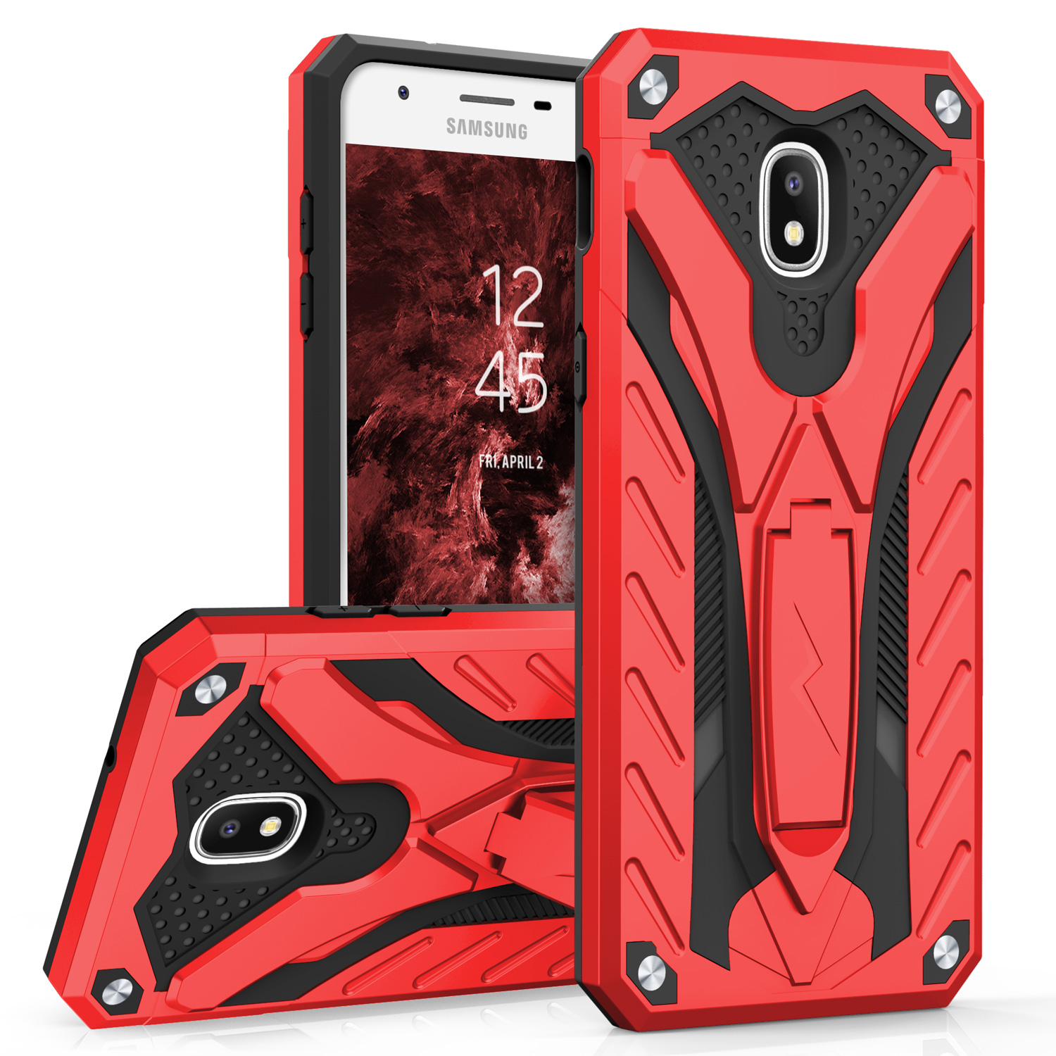Zizo Static Series Compatible with Samsung Galaxy J7 2018 Case Military Grade Drop Tested with Built In Kickstand Galaxy J7 Refine J7 Star