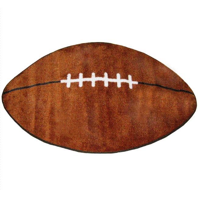 """2/'6/""""x4/' Kids Sports Football Small Shape Area Rug 715"""