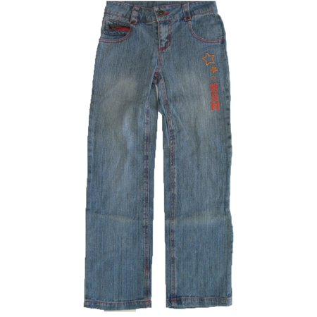 Girls Blue Denim High School Musical Embroidered Pants 7-16