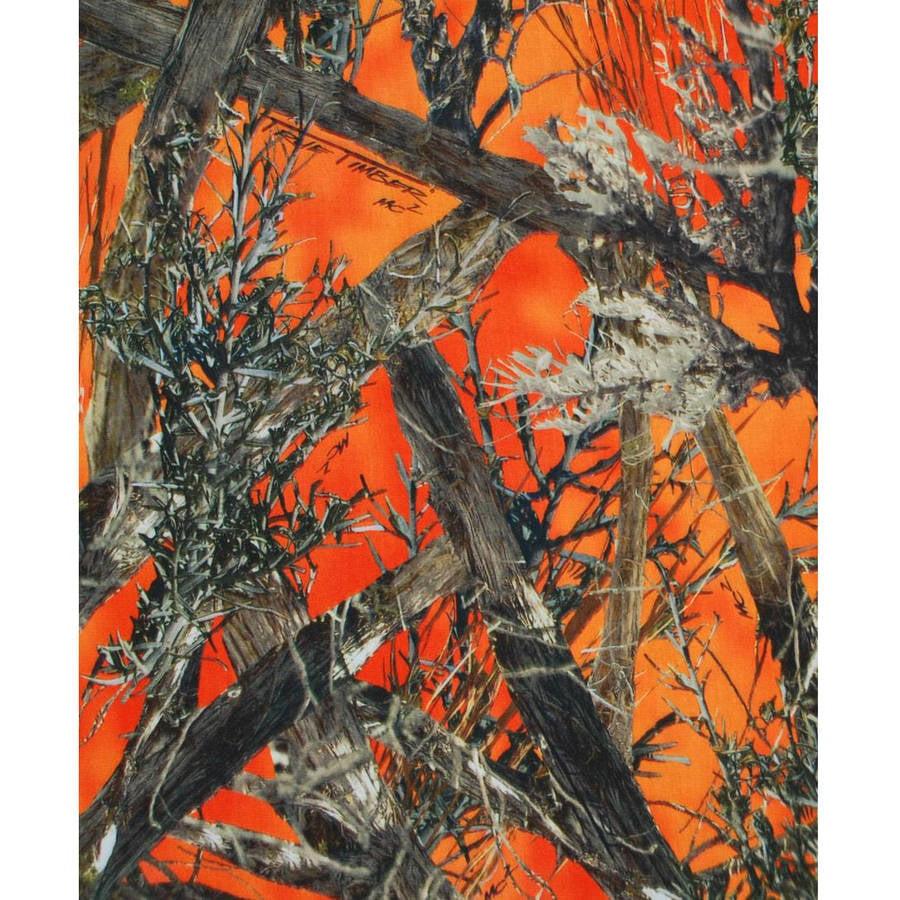 "True Timber Mc2 Blaze, Orange, 43/44"" Width, 2 yd Precut Fabric"