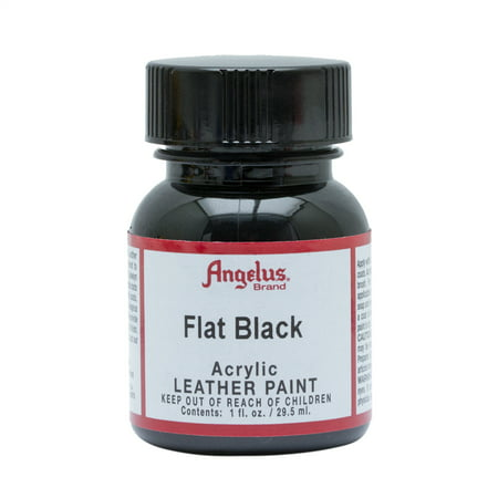 1 Oz Floquil Model Paint - Angelus® Acrylic Leather Paint, 1 oz., Flat Black