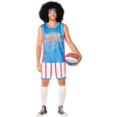 Harlem Globetrotters Uniform Men's Adult Halloween Costume - Halloween Uniform