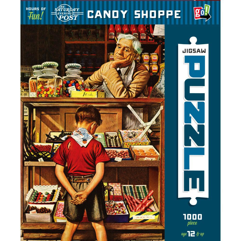 The Saturday Evening Post - Candy Shoppe 1000 Piece Pu,  Dessert by Go! Games