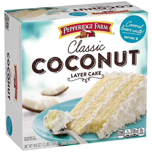 Pepperidge Farm Frozen Coconut Layer Cake 19 6 Oz Box Walmart Com Walmart Com