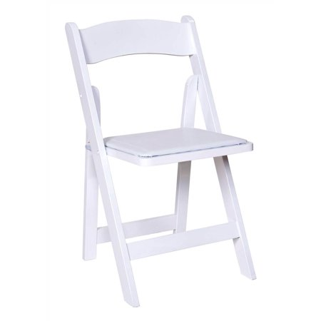 Wooden Folding Chairs in White Finish - Set of