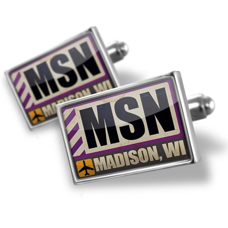 Cufflinks Airportcode Msn Madison  Wi   Neonblond