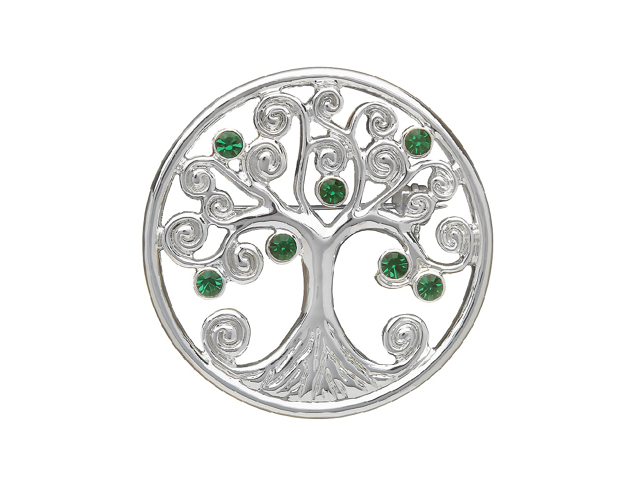 Celtic Brooch Tree of Life Silver Plated Irish Made by Amethyst Dublin