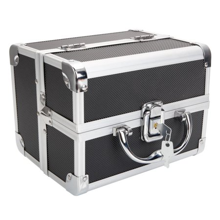 Ktaxon Pro Aluminum Makeup Train Case Jewelry Box Cosmetic Organizer Storage Lockable